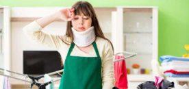 infortunio domestico casalinga