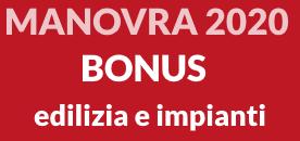 manovra 2020 bonus